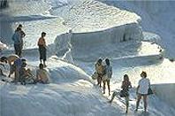 Pamukkale in der Türkei - Kalksteinterrassen-Badeferien in der Türkei günstig buchen