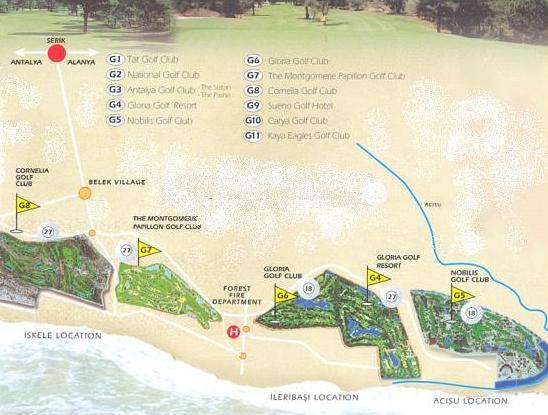 Golf Reisen in der Türkei- Belek-Golfclubs und Golfhotels