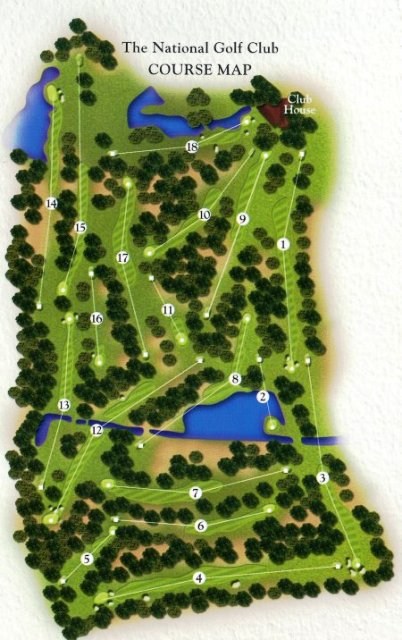 National Golf Club in Belek- Course Map