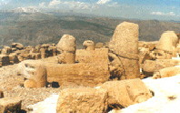 Berg Nemrut in Adiyaman-Türkei