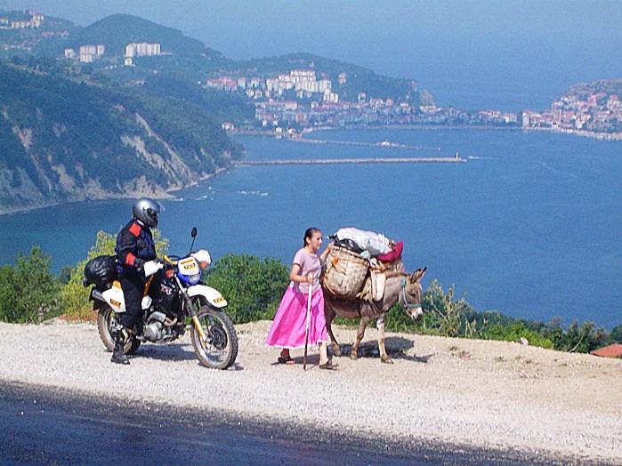 Blick auf Schwarzmeerküste in der Türkei